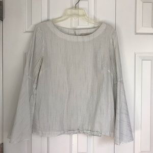 Loft blouse with bell sleeves